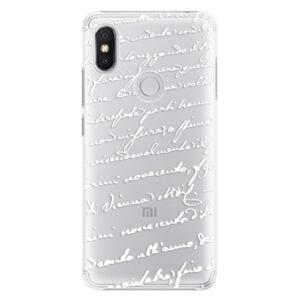 Plastové puzdro iSaprio - Handwriting 01 - white - Xiaomi Redmi S2