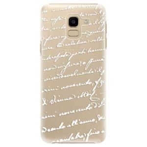 Plastové puzdro iSaprio - Handwriting 01 - white - Samsung Galaxy J6