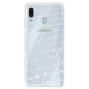 Silikónové puzdro iSaprio - Handwriting 01 - white - Samsung Galaxy A30