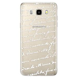 Odolné silikónové puzdro iSaprio - Handwriting 01 - white - Samsung Galaxy J5 2016