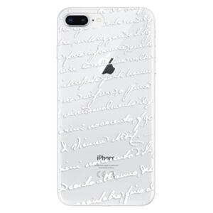 Odolné silikónové puzdro iSaprio - Handwriting 01 - white - iPhone 8 Plus