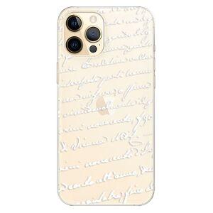 Odolné silikónové puzdro iSaprio - Handwriting 01 - white - iPhone 12 Pro Max
