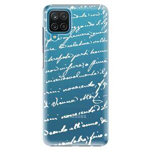 Plastové puzdro iSaprio - Handwriting 01 - white - Samsung Galaxy A12