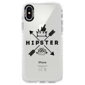 Silikónové púzdro Bumper iSaprio - Hipster Style 02 - iPhone X