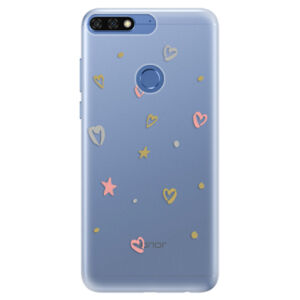 Silikónové puzdro iSaprio - Lovely Pattern - Huawei Honor 7C