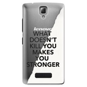 Plastové puzdro iSaprio - Makes You Stronger - Lenovo A2010