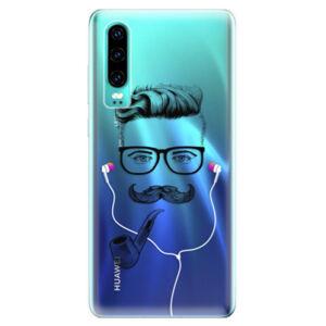 Odolné silikonové pouzdro iSaprio - Man With Headphones 01 - Huawei P30