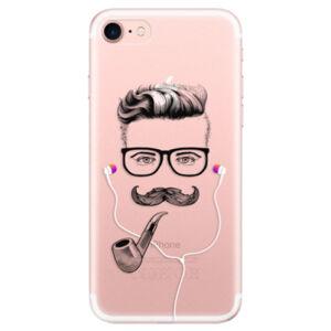 Odolné silikónové puzdro iSaprio - Man With Headphones 01 - iPhone 7