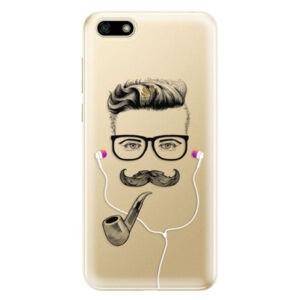 Odolné silikónové puzdro iSaprio - Man With Headphones 01 - Huawei Y5 2018