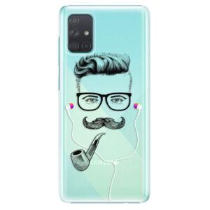 Plastové puzdro iSaprio - Man With Headphones 01 - Samsung Galaxy A71