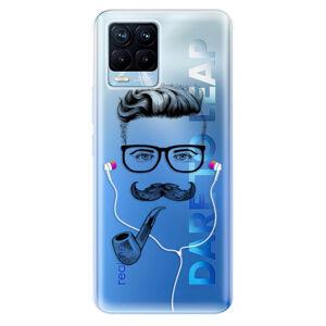 Odolné silikónové puzdro iSaprio - Man With Headphones 01 - Realme 8 / 8 Pro