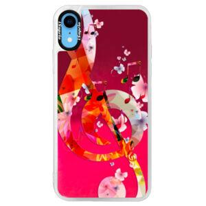Neónové púzdro Pink iSaprio - Music 01 - iPhone XR