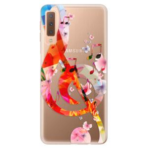 Odolné silikónové puzdro iSaprio - Music 01 - Samsung Galaxy A7 (2018)