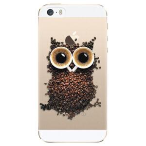 Plastové puzdro iSaprio - Owl And Coffee - iPhone 5/5S/SE