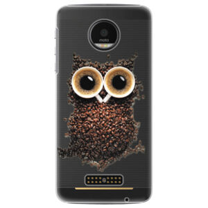 Plastové puzdro iSaprio - Owl And Coffee - Lenovo Moto Z