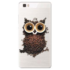 Silikónové puzdro iSaprio - Owl And Coffee - Huawei Ascend P8 Lite