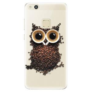 Silikónové puzdro iSaprio - Owl And Coffee - Huawei P10 Lite