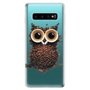 Odolné silikonové pouzdro iSaprio - Owl And Coffee - Samsung Galaxy S10