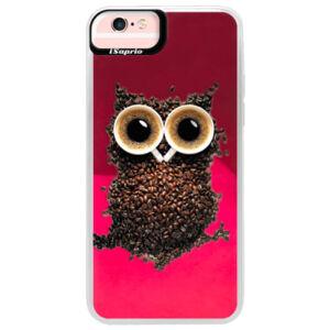 Neónové púzdro Pink iSaprio - Owl And Coffee - iPhone 6 Plus/6S Plus