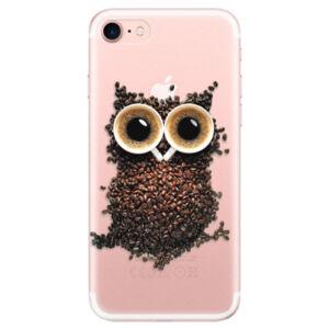 Odolné silikónové puzdro iSaprio - Owl And Coffee - iPhone 7