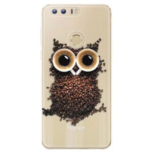 Odolné silikónové puzdro iSaprio - Owl And Coffee - Huawei Honor 8