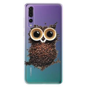 Odolné silikónové puzdro iSaprio - Owl And Coffee - Huawei P20 Pro