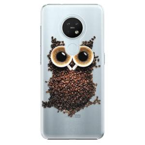 Plastové puzdro iSaprio - Owl And Coffee - Nokia 7.2
