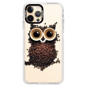 Silikónové puzdro Bumper iSaprio - Owl And Coffee - iPhone 12 Pro Max