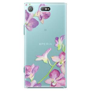 Plastové puzdro iSaprio - Purple Orchid - Sony Xperia XZ1 Compact