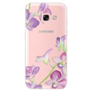 Odolné silikónové puzdro iSaprio - Purple Orchid - Samsung Galaxy A3 2017