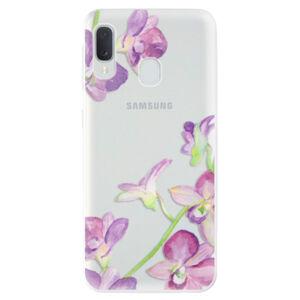 Odolné silikónové puzdro iSaprio - Purple Orchid - Samsung Galaxy A20e