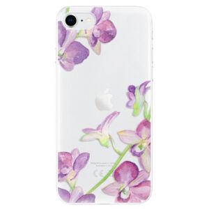 Odolné silikónové puzdro iSaprio - Purple Orchid - iPhone SE 2020