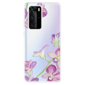Odolné silikónové puzdro iSaprio - Purple Orchid - Huawei P40 Pro