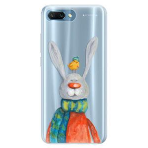 Silikónové puzdro iSaprio - Rabbit And Bird - Huawei Honor 10