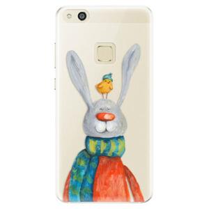 Silikónové puzdro iSaprio - Rabbit And Bird - Huawei P10 Lite
