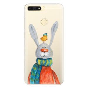 Silikónové puzdro iSaprio - Rabbit And Bird - Huawei Honor 7A