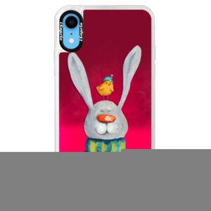 Neónové púzdro Pink iSaprio - Rabbit And Bird - iPhone XR