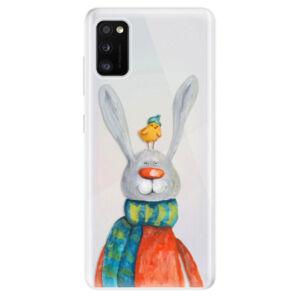 Odolné silikónové puzdro iSaprio - Rabbit And Bird - Samsung Galaxy A41