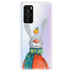 Odolné silikónové puzdro iSaprio - Rabbit And Bird - Huawei P40