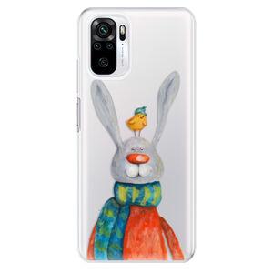 Odolné silikónové puzdro iSaprio - Rabbit And Bird - Xiaomi Redmi Note 10 / Note 10S