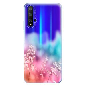 Odolné silikónové puzdro iSaprio - Rainbow Grass - Huawei Honor 20