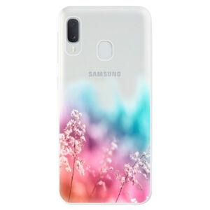 Odolné silikónové puzdro iSaprio - Rainbow Grass - Samsung Galaxy A20e