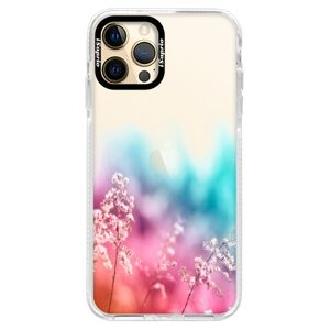 Silikónové puzdro Bumper iSaprio - Rainbow Grass - iPhone 12 Pro