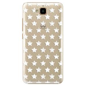 Plastové puzdro iSaprio - Stars Pattern - white - Huawei Y6 Pro