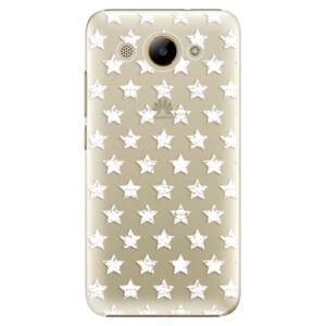Plastové puzdro iSaprio - Stars Pattern - white - Huawei Y3 2017