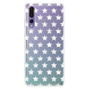 Silikónové puzdro iSaprio - Stars Pattern - white - Huawei P20 Pro