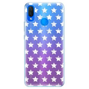 Silikónové puzdro iSaprio - Stars Pattern - white - Huawei Nova 3i
