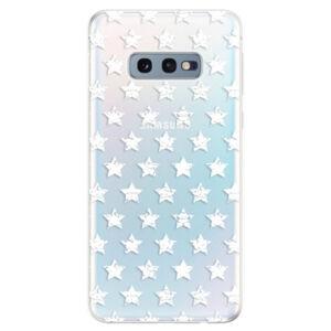 Odolné silikonové pouzdro iSaprio - Stars Pattern - white - Samsung Galaxy S10e