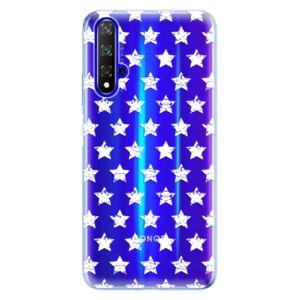 Odolné silikónové puzdro iSaprio - Stars Pattern - white - Huawei Honor 20