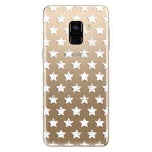 Odolné silikónové puzdro iSaprio - Stars Pattern - white - Samsung Galaxy A8 2018